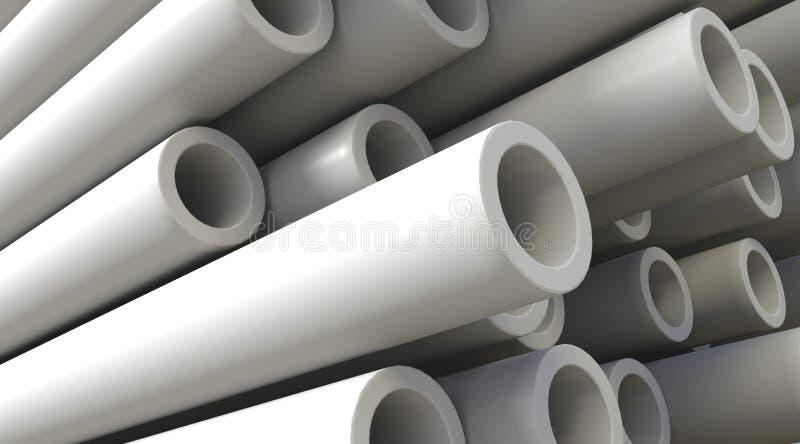 Tubulações plásticas ilustração do vetor
