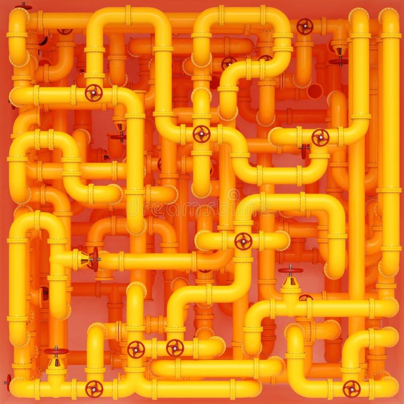 Tubula??es de g?s amarelas imagens de stock royalty free