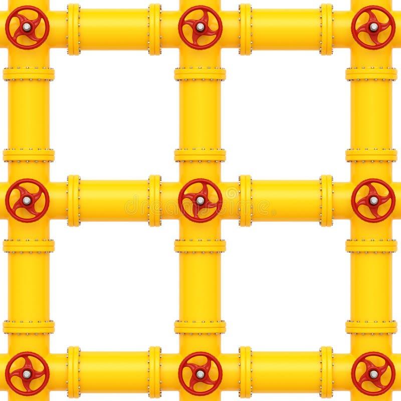 Tubula??es de g?s amarelas em um fundo branco imagem de stock royalty free