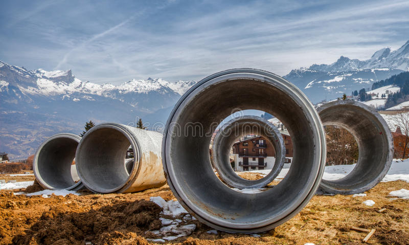 Download Tubular Pipes stock photo. Image of tubular, site, drainage - 23799366