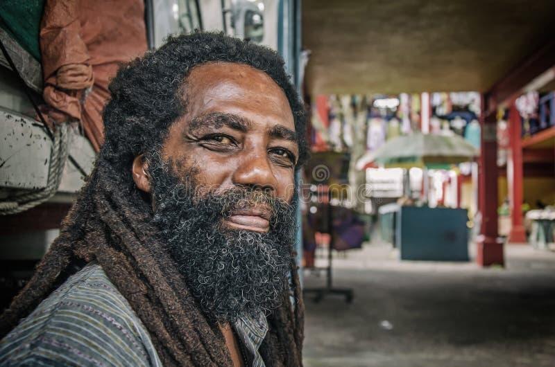 Tubylczy creole mężczyzna z brodą fotografia stock