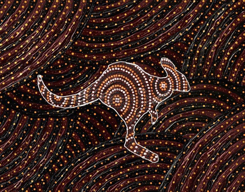 Tubylczy kangur kropki obraz ilustracja wektor