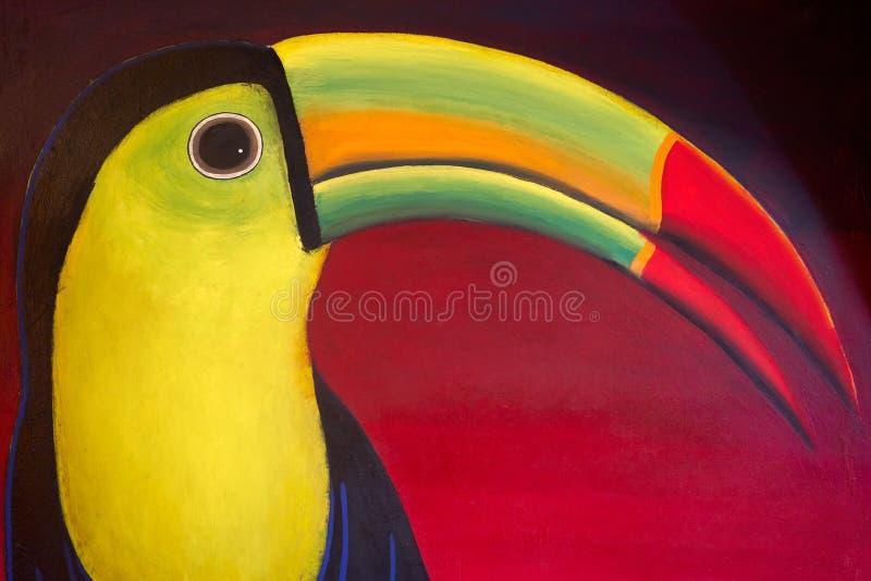 Tucan从玛雅里维埃拉的鸟凹道 免版税库存照片