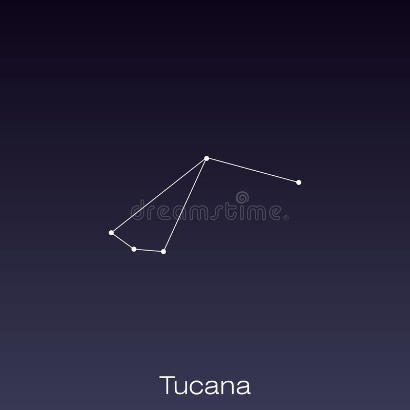 Constellation as it can be seen by the naked eye. Tucana constellation as it can be seen by the naked eye stock illustration
