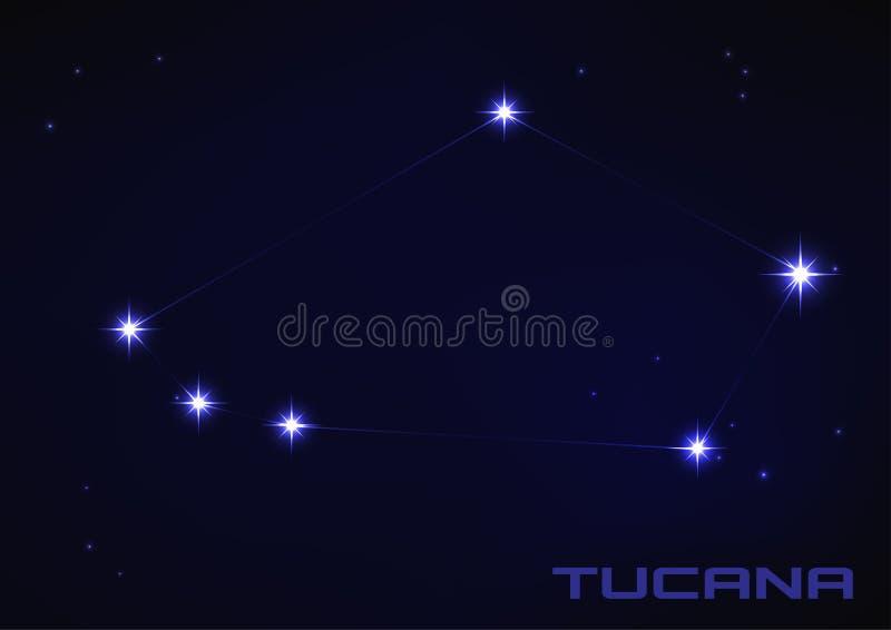 Tucana constellation stock illustration