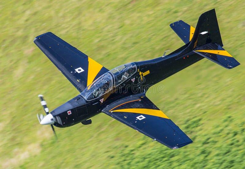 Tucano opleidingsvliegtuigen stock fotografie