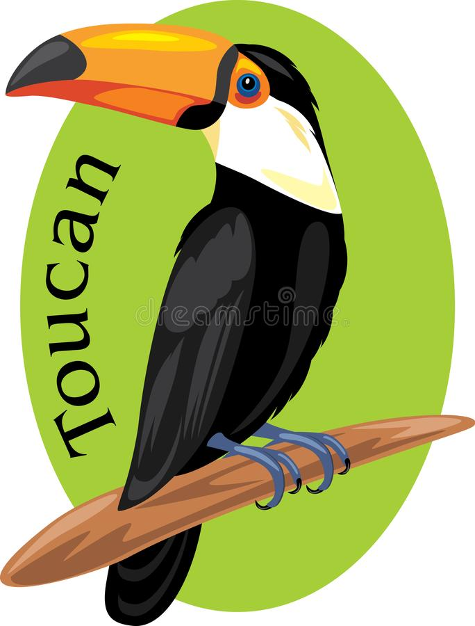 Tucano orgulhoso S?mbolo para o projeto ilustração royalty free