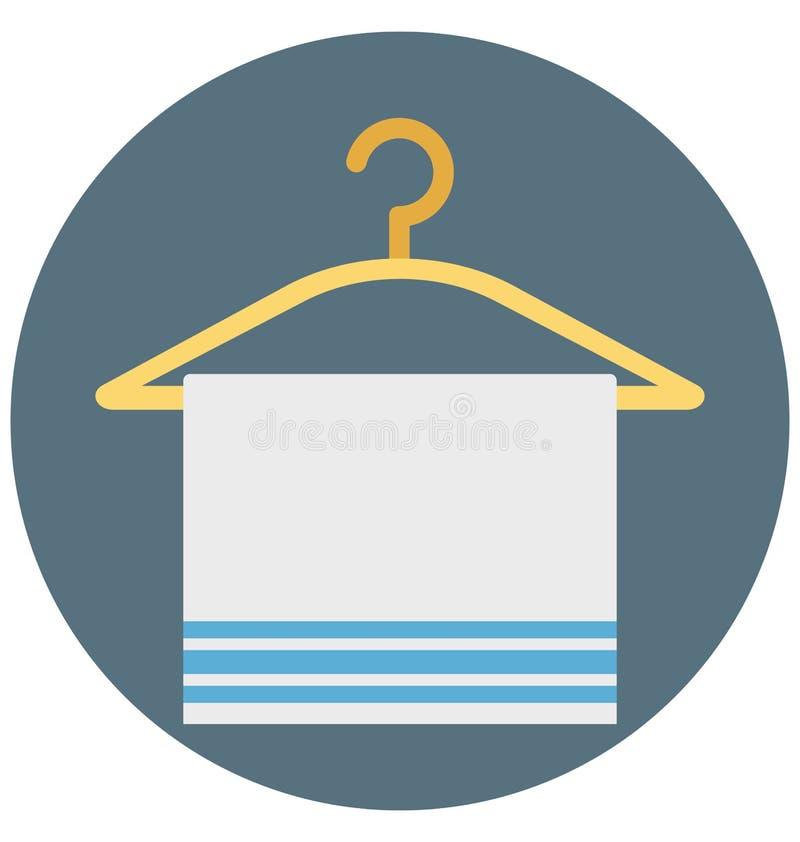 Tuch-Aufhänger-Illustrations-Farbvektor lokalisierter Ikone einfacher editable und spezieller Gebrauch für Freizeit, Reise und Au stock abbildung