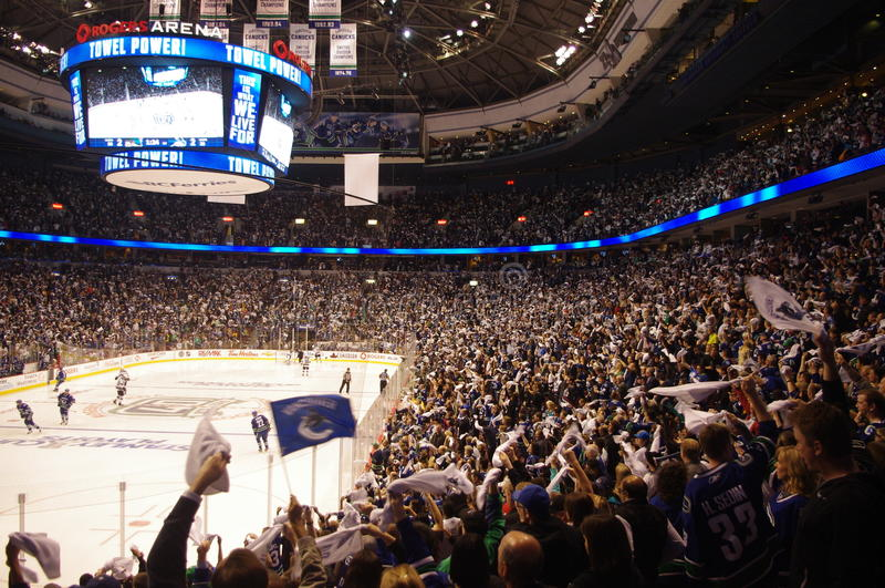 Tuch-Energie im NHL stockbild