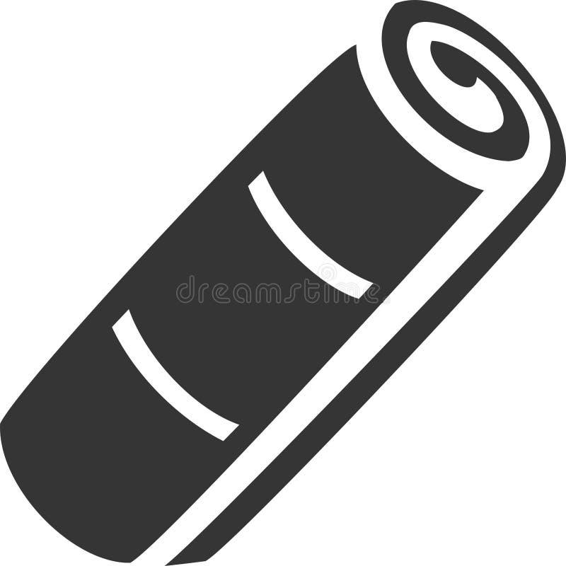 Tuch-Rolle, Matte mit den Linien gekippt stock abbildung