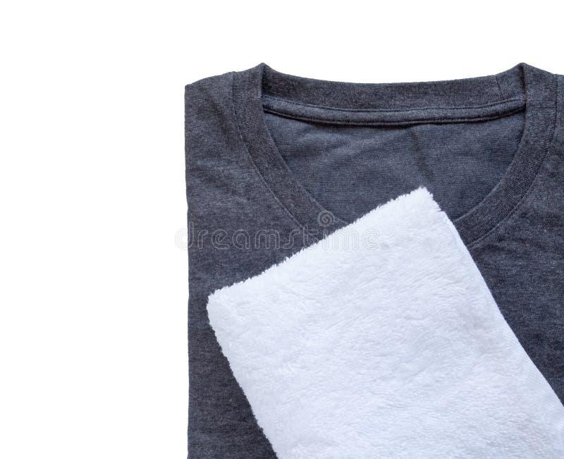 Tuch und schwarzes T-Shirt lizenzfreies stockfoto