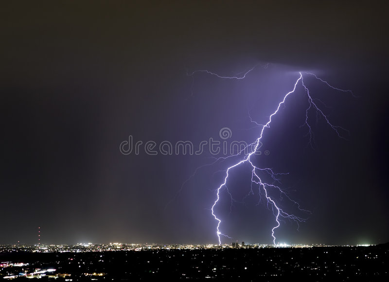 Download Tucson Forked Lightning stock photo. Image of severe, energy - 4872226