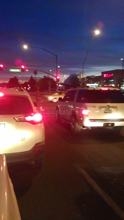 Tucson gator på natten arkivfoton