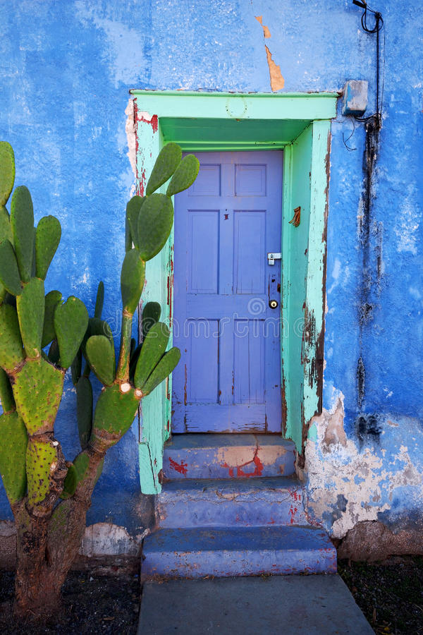 Tucson House Door. Colorful house door in Tucson, AZ royalty free stock images