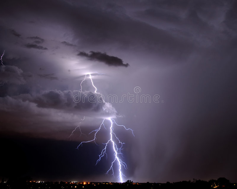 Tucson Lightning royalty free stock photography