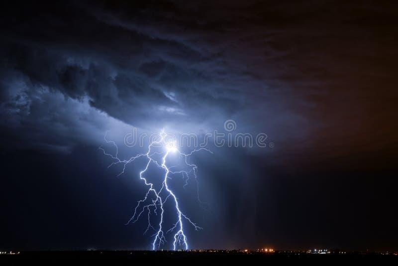 Tucson Lightning. Lightning storm over Tucson, AZ stock photos