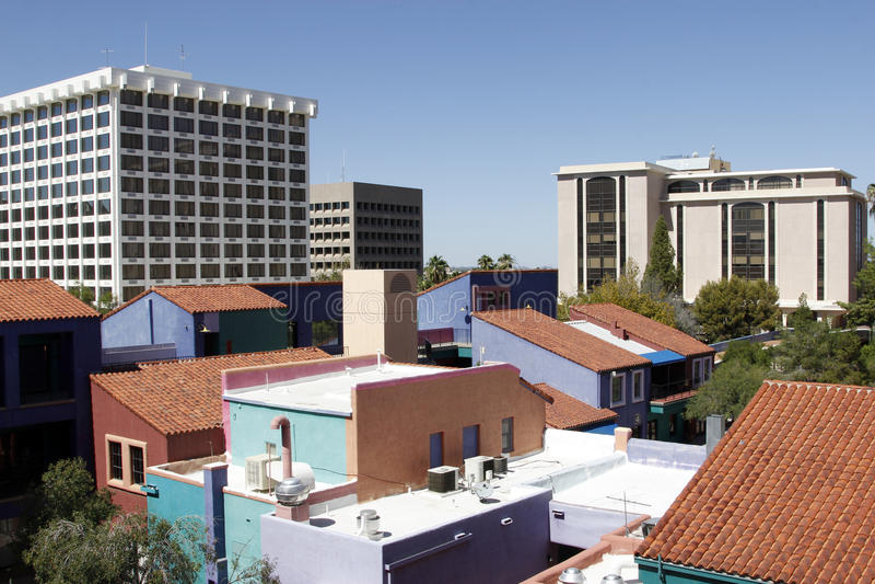 Tucson van de binnenstad stock foto