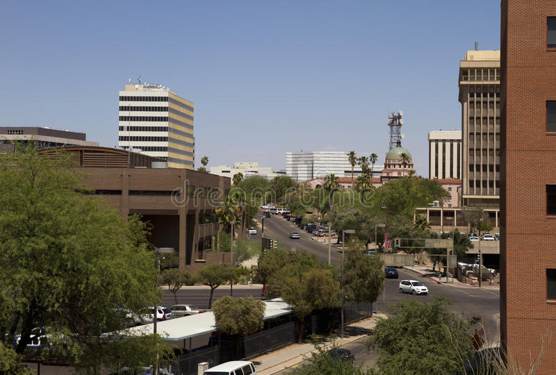 Tucson van de binnenstad Arizona stock foto's