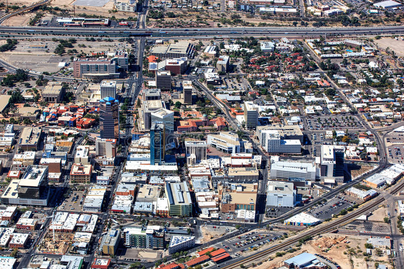 Tucson van de binnenstad, Arizona stock fotografie