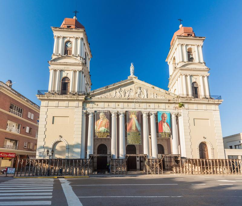 TUCUMAN, ARGENTINA - APRIL 4, 2015: Cathedral in San Miguel de Tucuman city, Argenti royalty free stock image
