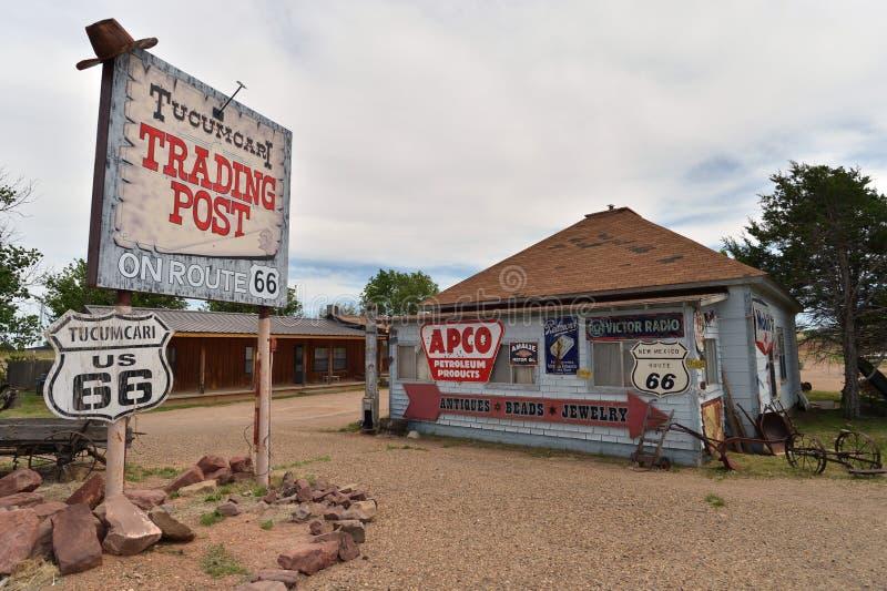 Tucumcari, New Mexiko, USA, am 25. April 2017: Geisterstadt von Tucumcari führte einzeln auf lizenzfreie stockbilder