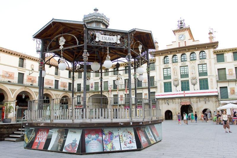 Tudela, Spain. Plaza de los Fueros, Tudela, Spain royalty free stock photos