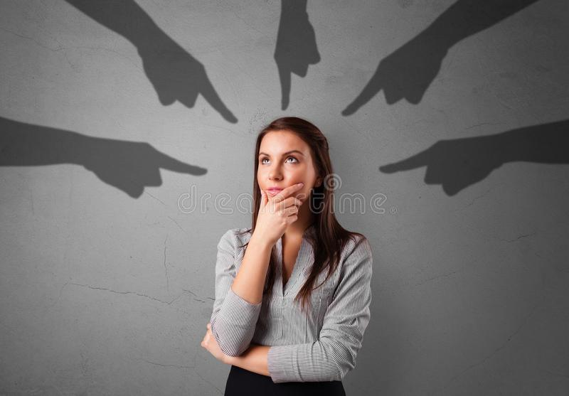 ?tudiant avec diriger le concept de mains image libre de droits