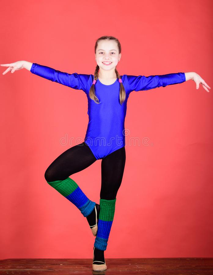 Tudo é possível Sucesso Atividade da infância Dieta da aptidão Energia gymnastics Desportista feliz da criança Esporte e imagens de stock royalty free