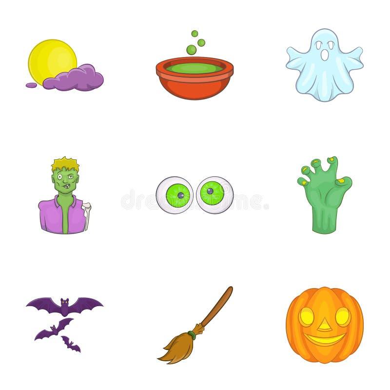 Download Tudo Bendiz Os ícones Ajustados, Estilo Da Noite Dos Desenhos Animados Ilustração do Vetor - Ilustração de desenhado, isolado: 80101046