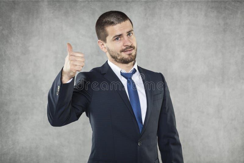 Tudo ESTÁ BEM, homem de negócio feliz imagem de stock royalty free