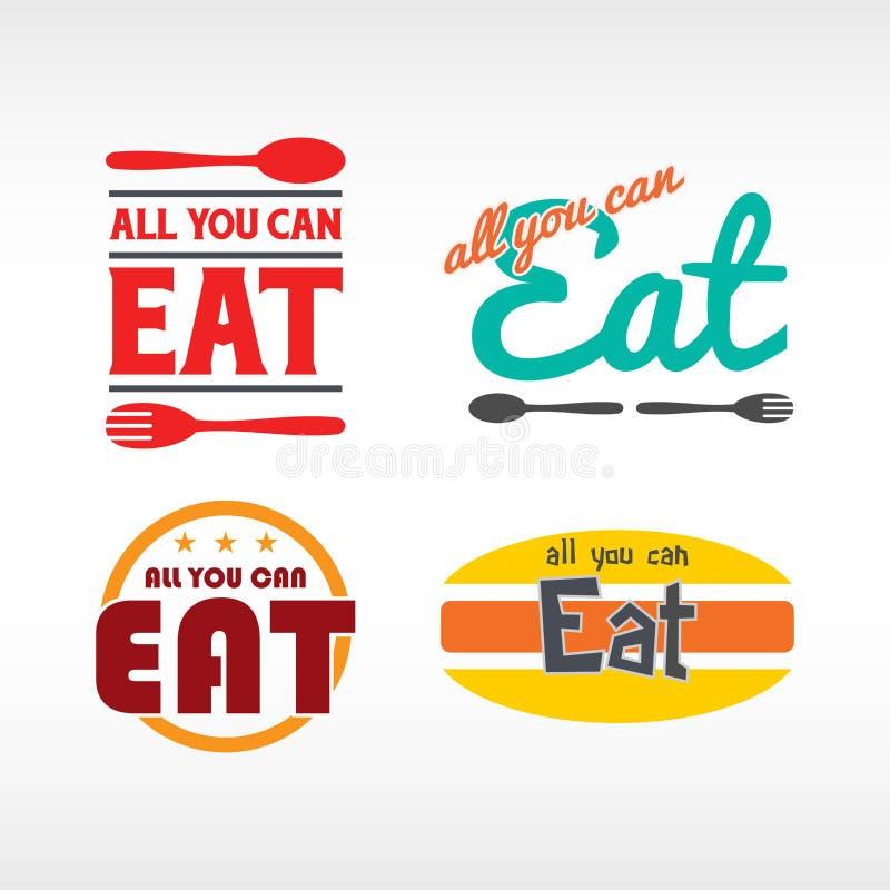 Tudo que você pode comer ilustração royalty free