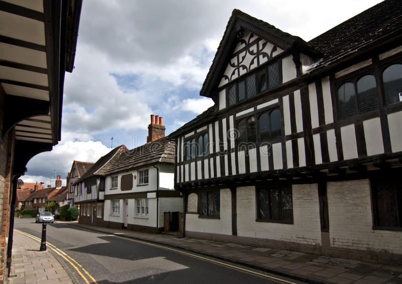 Tudor村庄 免版税库存照片