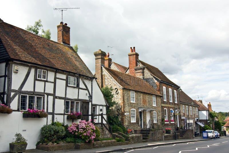 Tudor村庄 免版税库存图片