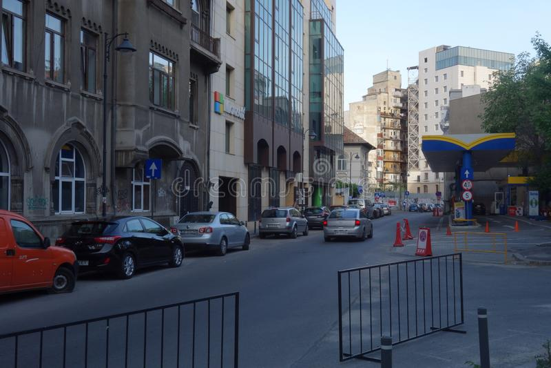 Tudor Arghezi gata i Bucharest royaltyfria bilder