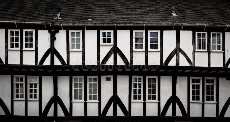 Tudor Building Front, York, Vereinigtes Königreich lizenzfreie stockbilder