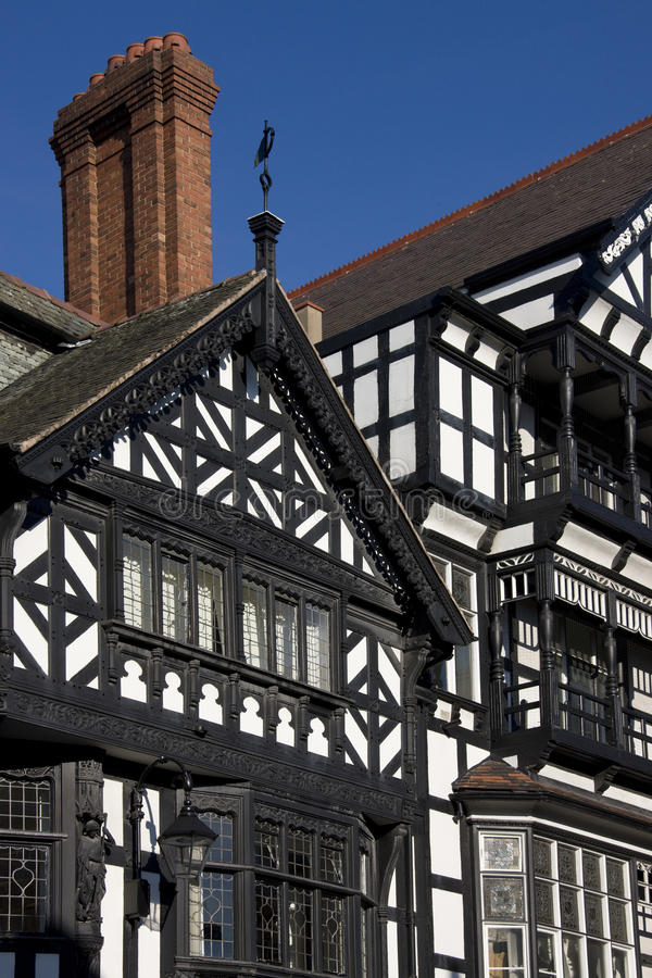 tudor chester Англии зданий стоковые фото