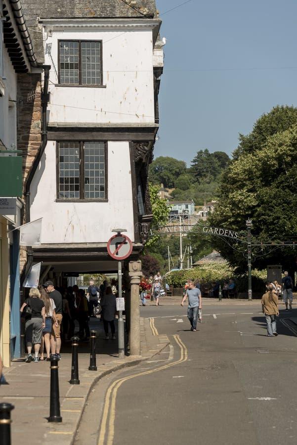 Tudor de straat Dartmouth van de de bouwhertog royalty-vrije stock afbeelding