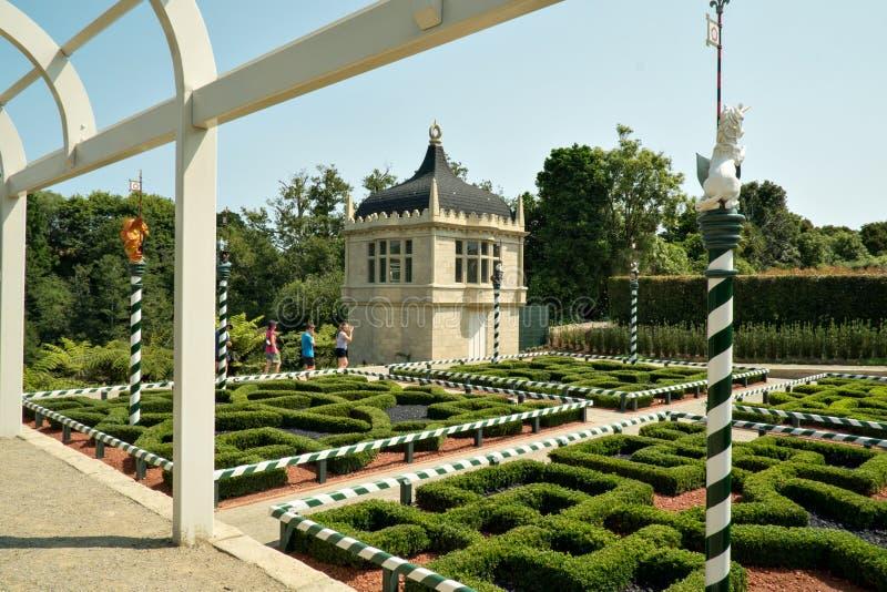Tudor-Garten bei Hamilton Gardens, Hamilton, Neuseeland, NZ lizenzfreie stockbilder