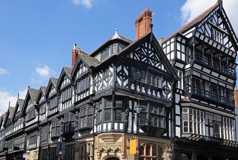 Tudor-Gebäude, Chester lizenzfreies stockfoto