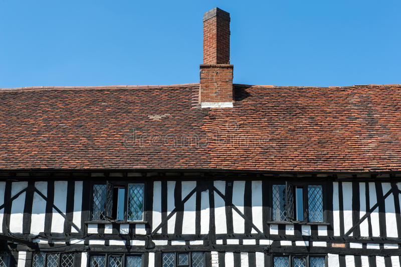Tudor house details stock photos