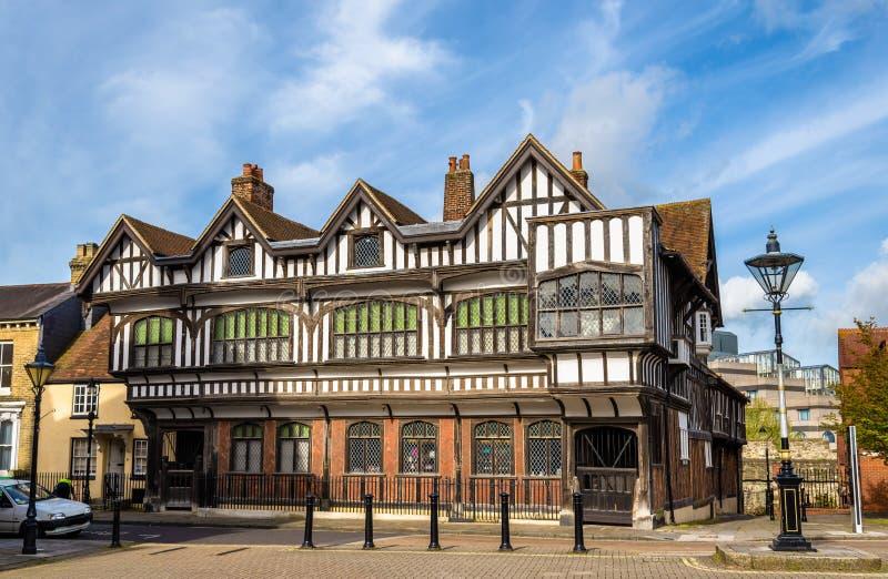 Tudor House im Stadtzentrum von Southampton stockfoto