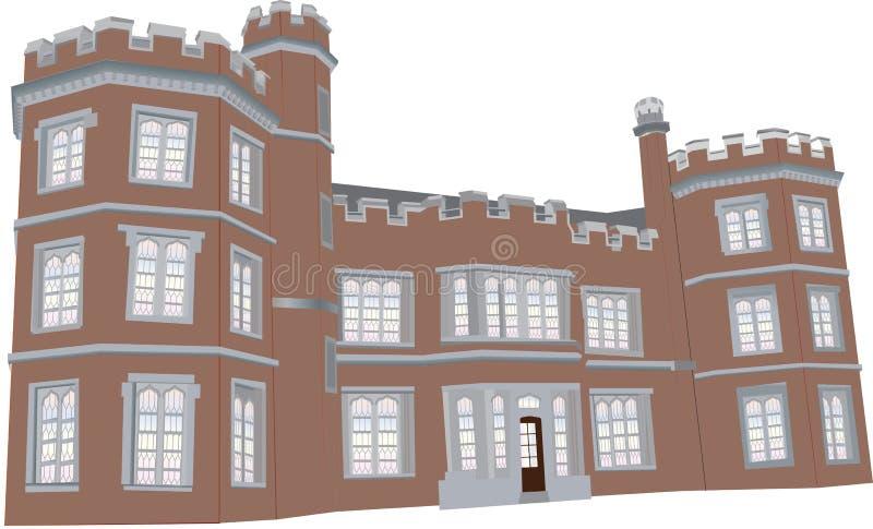Tudor mangårdsbyggnad vektor illustrationer
