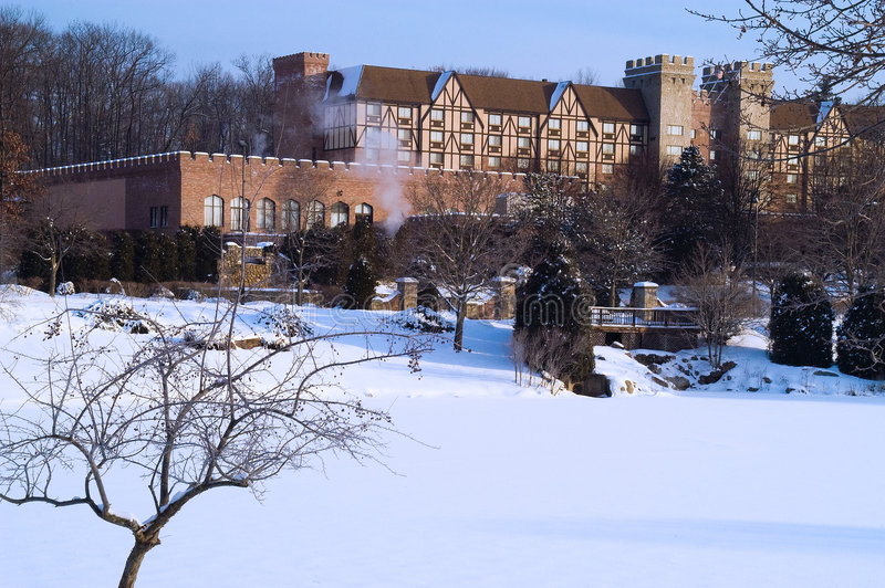 Download Tudor Manor In A Winter Morning Stock Image - Image: 7747113