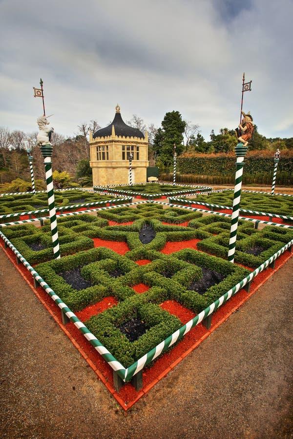 Tudor ogród przy Hamilton ogródami obrazy royalty free
