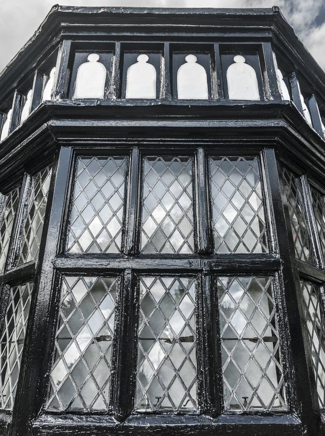Tudor okno obrazy royalty free