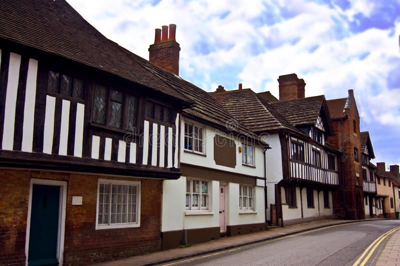 Download Tudor village stock photo. Image of street, building - 26694180