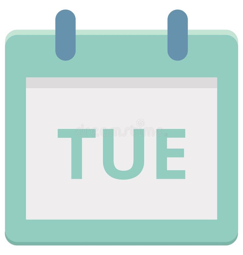 Tue symbol för vektor för dag tisdag för special händelse som kan lätt ändras eller redigera stock illustrationer