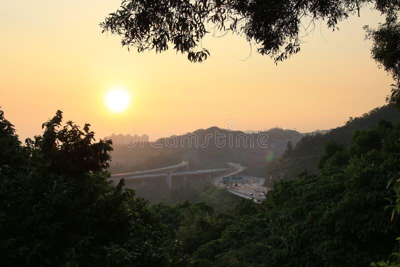 Tuen Mun Rd & New Territories Circular Rd. Ting Kau stock photo