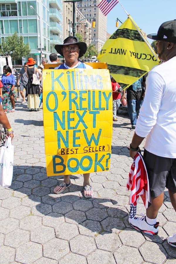 Tuer O'Reilly Protester photographie stock libre de droits