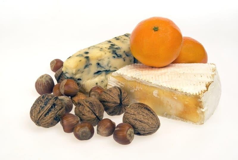 Tuercas de la fruta del queso imagen de archivo libre de regalías
